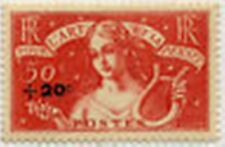 "FRANCE STAMP TIMBRE 329 "" ART ET PENSEE +20c S 50c+2F "" NEUF x TB"