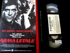 ARMA LETALE- MEL GIBSON-DANNY GLOVER_VHS EX NOLO_FILM POLIZIESCO 1987_VHS USATA