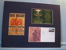 The Irish Brigade in the Civil War & First Day Cover honoring Irish immigration