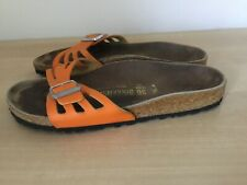 Orange Birkenstocks Molina Size 36 (3) Good  Condition