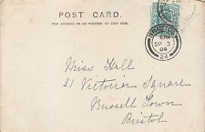 Genealogy Postcard - Family History - Hall - Russell Town - Bristol   BS123