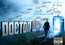 DR WHO LOT OF 4 MODERN POSTERS AUTOGRAPH SIGNED 8 X 11 DOCTOR LAMINATED