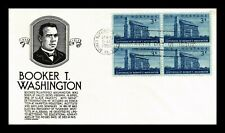 DR JIM STAMPS US BOOKER T WASHINGTON UNSEALED FDC COVER BLOCK SCOTT 1074