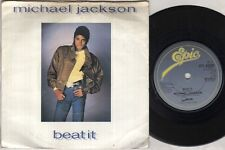 """MICHAEL JACKSON Beat It 7"""" Ps, B/W Burn This Disco Out, A3258 (Vg/Vg, Sleeve Has"""