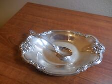 Vintage Silverplate Candy Dish/ Relish Dish &  sterling silver spoon