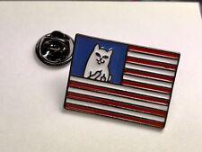 Middle Finger Cat Enamel Pin Brooch Ripndip Lord Nermal President American Flag