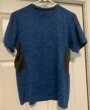 Old Navy Men's Blue With Gray Accent Short Sleeve Active Go Dry Shirt Size Small