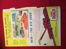 m12y ephemera 1950/s colour advert dinky toys booklet hornby big hook