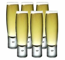 6 x Durobor BUBBLE Champagne FLUTES Sparkling Wine Trumpet GLASSES 150ml