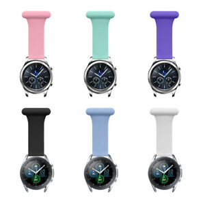 Nurses Doctors Fob Silicone Watch Strap Band For Samsung Active2 1 20mm 22mm Pin