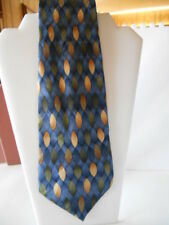 TODAY'S MAN Pure Silk Blue / Green / Gold Novelty Print Tie