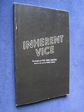 INHERENT VICE FILM SCRIPT Based THOMAS PYNCHON Novel 1st Appearance in Book Form