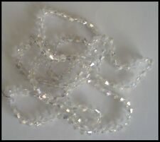 6mm Bicone A-grade 50 AB Clear Crystal Glass Beads Faceted Suncatcher Jewellery