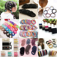 Lot 100pcs Women Elastic Rope Hair Ties Ponytail Holder Head Band Hairbands