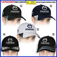 Mazda Casquette 3D Brodé Logo Auto Voiture Chapeau Baseball Cap Hat Homme Femme