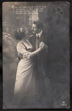 Posted 1916 - Studio Portrait Card of couple dancing 'Love and Happiness'
