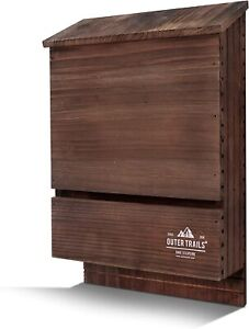 NEW Outer Trails Outdoor Bat House Habitat Cedar Wood 2 Chamber- 3 Colors