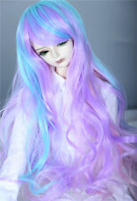 "1/6 6-7"" BJD Dal DD Wig SD LUTS MSD DOD Dollfie Doll Wig Long curly Gradient wig"