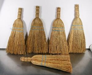 VINTAGE 1 pc Hand Made Middle 16'' NATURAL CORN HAND WHISK BROOM - country decor