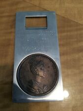 Cummins Industries Bottle Opener With 1836 Czech Coin Italy Italian Stainless