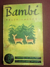 Bambi by Felix Salten 1940 Pocket Books #10 6th printing