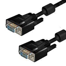 1,8m S-VGA Monitorkabel Monitor Kabel SUB-D Stecker Ferrit Beamer ca. 2m