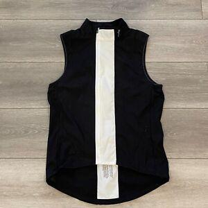 Rapha Classic Gilet Softshell Wind Vest Black White Size M Medium