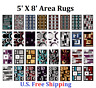 Area Rug 5' X 8' Carpet Flooring Area Rug Floor Decor  LARGE SIZE ON SALE !!