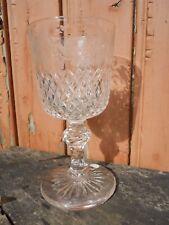 Grand verre XIXe en cristal taillé gravé d'oiseaux et fleurs Baccarat St Louis