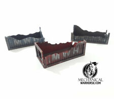 Ruined Shipping Containers: 28mm terrain necromunda killteam 40k infinity