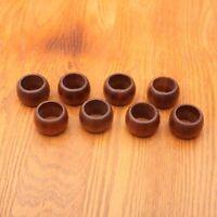 8 Wood Napkin Rings