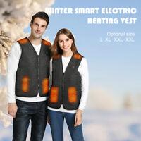 Femmes Hommes Gilet électrique Veste en tissu chauffant USB Coussin chauffant D1