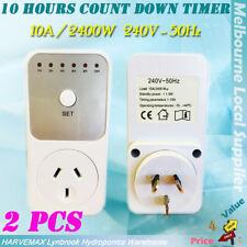 2Pcs Mobile Phone Charger Heater Fan Appliance Countdown Timer AU Plug 10A 2400W