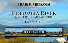 "Train Junkies HO Scale ""Columbia River"" Model Railroad Backdrop 120"" X 18"""
