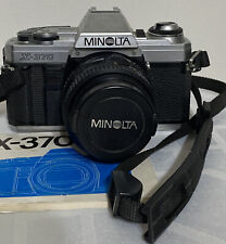 Minolta X-370 35mm Camera w/ 50mm Lens - Untested