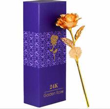Long Stem 24k Gold Rose Flower Free Gift Box For Valentine's Day/ Mother's Day