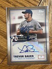 2021 Topps Series 2-TREVOR BAUER: 70 Years of Baseball GOLD AUTO 50/50 #70YA-TB