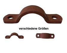 Rohrschellenhälfte - Rohrschellen DIN 3567 Stahl grundiert Form A - rotbraun -