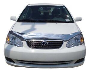 AVS for 03-08 Toyota Corolla Carflector Low Profile Hood Shield - Smoke - avs205