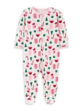 Child Of Mine by Carter's Christmas Unisex Sleep N Play Pajama NB