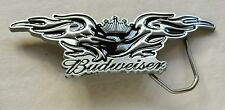 BUDWEISER BEER CROWN WINGED BLACK COLORED BIRD EAGLE BELT BUCKLE