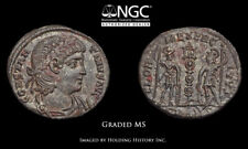 Constantine II. AD 337-340. Æ3, Soldiers and standards, NGC MS
