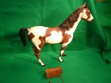 VINTAGE MARX JOHNNY WEST STORM CLOUD BROWN PINTO HORSE