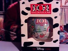 101 Dalmatiens`The Disney Store..Glass Ball Christmas Tree Ornament-Rare-Free US