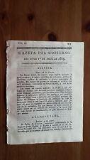 Núm.19 Gazeta del Gobierno del Lúnes 17 de Abril 1809 Guerra de la Independencia