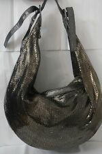 CHLOE MADE IN ITALY SILVER METAL MESH CHAINMAIL HOBO SHOULDER BAG EUC!