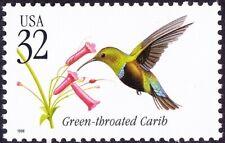 US - 1998 - 32 Cents Green-Throated Carib Birds Issue # 3223 Mint NH F-VF + Nice
