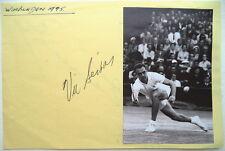 Vic Seixas – campeón de Wimbledon 1953 autógrafo de tenis
