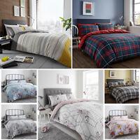 Duvet Cover Set Printed Seersucker Quilt Bedding Set Single Double King Size New