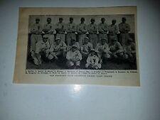 San Francisco Seals 1917 Team Picture Del Baker Jack Calvo Roy Corhan